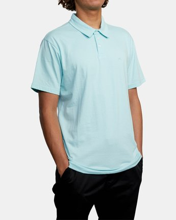 5 SURE THING III POLO SHIRT White M9101RST RVCA