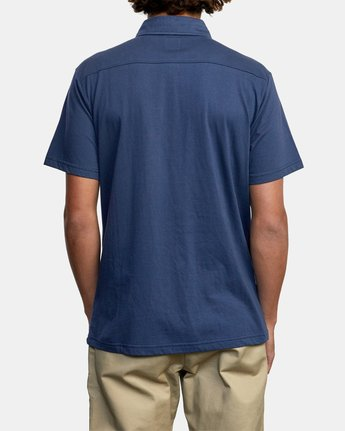 8 SURE THING III POLO SHIRT Blue M9101RST RVCA