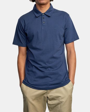 7 SURE THING III POLO SHIRT Blue M9101RST RVCA
