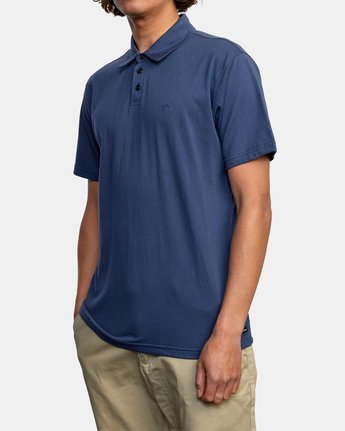 10 SURE THING III POLO SHIRT Blue M9101RST RVCA