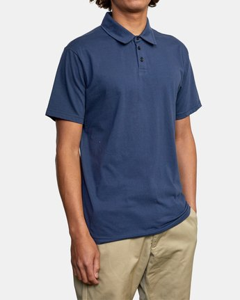 11 SURE THING III POLO SHIRT Blue M9101RST RVCA