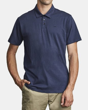 12 SURE THING III POLO SHIRT Blue M9101RST RVCA