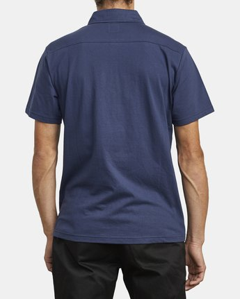 3 SURE THING III POLO SHIRT Blue M9101RST RVCA