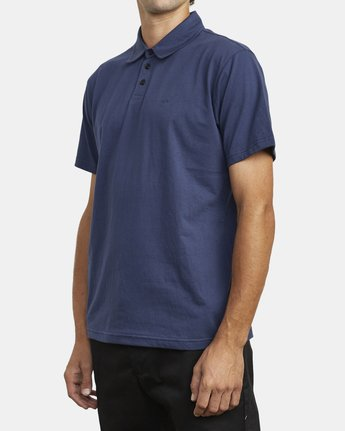 4 SURE THING III POLO SHIRT Blue M9101RST RVCA