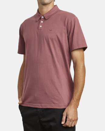 3 SURE THING III POLO SHIRT Red M9101RST RVCA