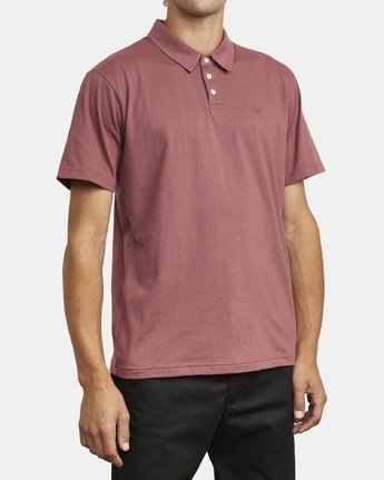 5 SURE THING III POLO SHIRT Red M9101RST RVCA