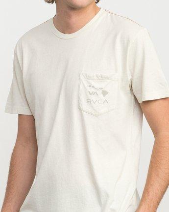 3 Islands PTC Fade Pocket T-Shirt Silver M912NRIP RVCA