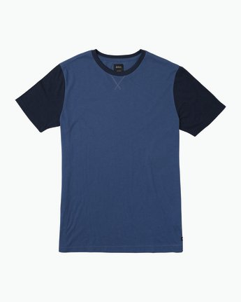 0 Pick Up II Knit T-Shirt Blue M913QRPU RVCA