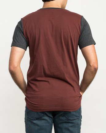 3 Pick Up II Knit T-Shirt Red M913QRPU RVCA