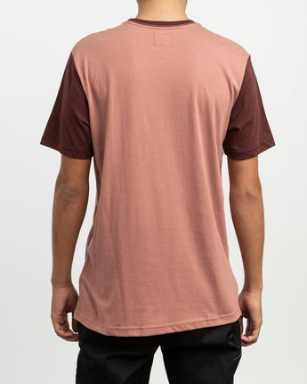 3 Pick Up II Knit T-Shirt Brown M913QRPU RVCA