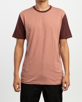 1 Pick Up II Knit T-Shirt Brown M913QRPU RVCA