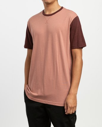 2 Pick Up II Knit T-Shirt Brown M913QRPU RVCA
