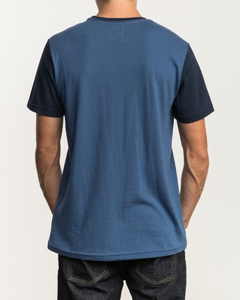 3 Pick Up II Knit T-Shirt Blue M913QRPU RVCA