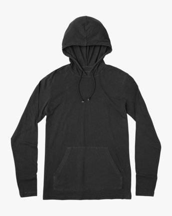 0 PTC PIGMENT HOODED LONG SLEEVE TEE Black M915PRPH RVCA