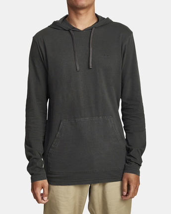 5 PTC PIGMENT HOODED LONG SLEEVE TEE Black M915PRPH RVCA