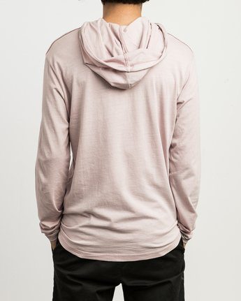 3 PTC PIGMENT HOODED LONG SLEEVE TEE Pink M915PRPH RVCA