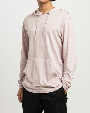 2 PTC PIGMENT HOODED LONG SLEEVE TEE Pink M915PRPH RVCA