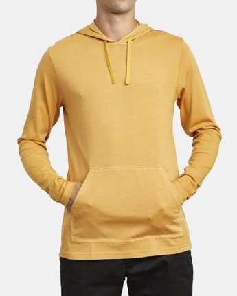1 PTC PIGMENT HOODED LONG SLEEVE TEE Beige M915PRPH RVCA