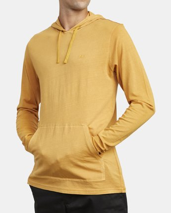 2 PTC PIGMENT HOODED LONG SLEEVE TEE Beige M915PRPH RVCA