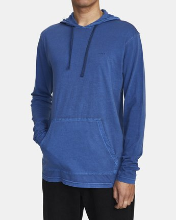2 PTC PIGMENT HOODED LONG SLEEVE TEE Blue M915PRPH RVCA
