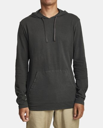 1 PTC PIGMENT HOODED LONG SLEEVE TEE Black M915PRPH RVCA