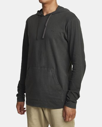 3 PTC PIGMENT HOODED LONG SLEEVE TEE Black M915PRPH RVCA
