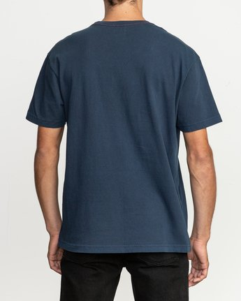 3 Korbin Neutral T-Shirt Blue M916QRRO RVCA