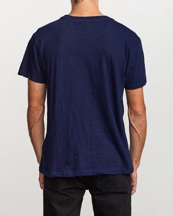 3 Hi-Grade Pigment T-Shirt Blue M949VRTU RVCA