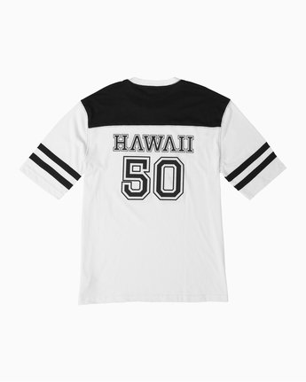 1 Fifty Sense Hawaii Jersey T-Shirt White M950TRFS RVCA