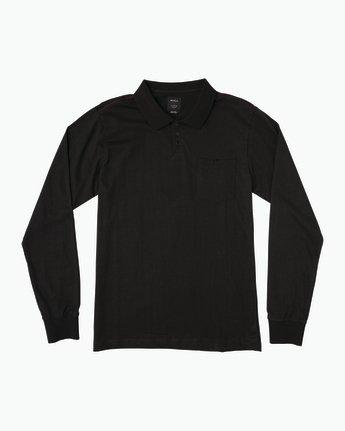 0 Hi Grade Long Sleeve Polo  M951SRHP RVCA