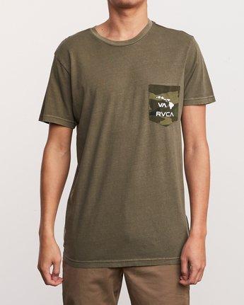 1 Aloha Camo PTC Pocket T-Shirt Green M951URAC RVCA
