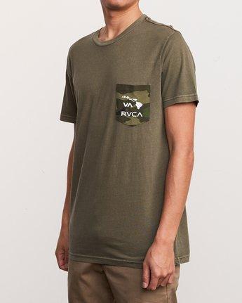2 Aloha Camo PTC Pocket T-Shirt Green M951URAC RVCA