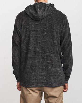 3 Super Marle Zip Knit Hoodie Black M951VRSM RVCA