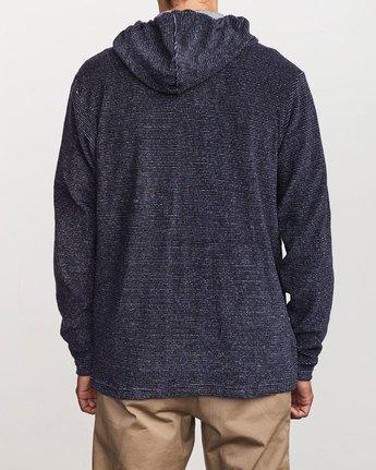 3 Super Marle Zip Knit Hoodie Blue M951VRSM RVCA