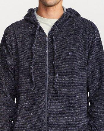 4 Super Marle Zip Knit Hoodie Blue M951VRSM RVCA