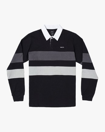 0 JOHNSY LONG SLEEVE POLO SHIRT Black M9521RJP RVCA