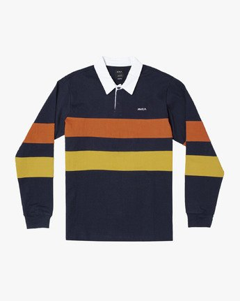 0 JOHNSY LONG SLEEVE POLO SHIRT Blue M9521RJP RVCA