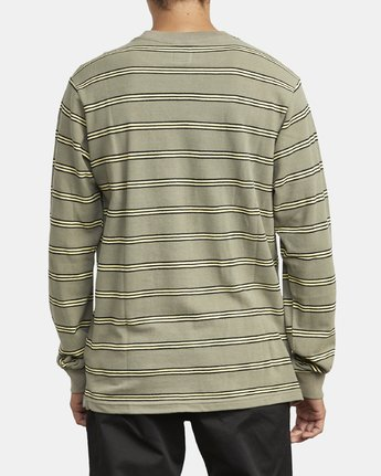 5 BLOOM PIQUE LONG SLEEVE KNIT TEE Green M9523RBP RVCA