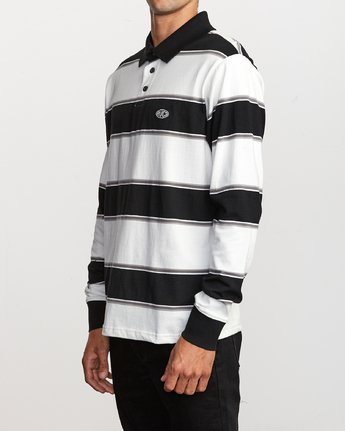 2 April Skies Long Sleeve Polo White M952VRAS RVCA