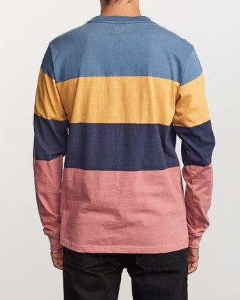 3 Shifty Long Sleeve Knit T-Shirt Blue M953VRSL RVCA