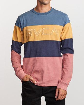1 Shifty Long Sleeve Knit T-Shirt Blue M953VRSL RVCA