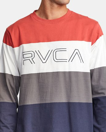 3 Shifty Long Sleeve Knit T-Shirt Red M953VRSL RVCA