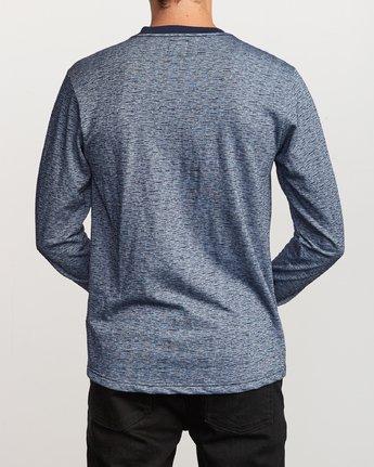 3 Lavish Henley Knit T-Shirt Blue M954VRLH RVCA