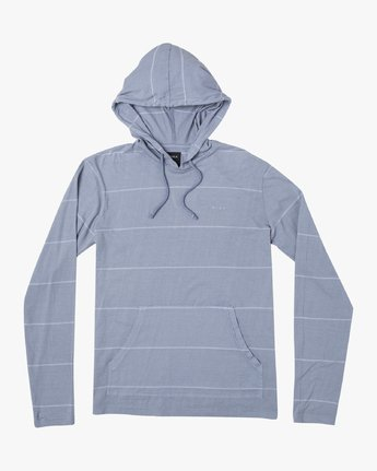 0 PTC STRIPE HOODED SHIRT Blue M9553RPS RVCA