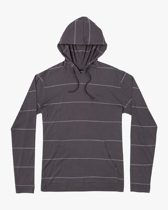1 PTC STRIPE HOODED LONG SLEEVE TEE Black M9553RPS RVCA