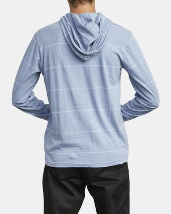 6 PTC STRIPE HOODED SHIRT Blue M9553RPS RVCA