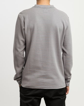 3 Manc Striped Long Sleeve Shirt Pink M957SRMS RVCA