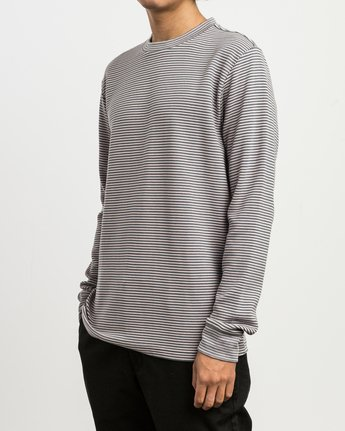 2 Manc Striped Long Sleeve Shirt Pink M957SRMS RVCA