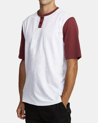 2 PICK UP HENLEY KNIT TOP White M9591RPU RVCA