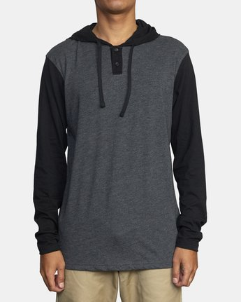 1 PICK UP II HOODIE Black M9593RPU RVCA